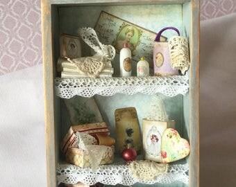 Vintage shelf unit