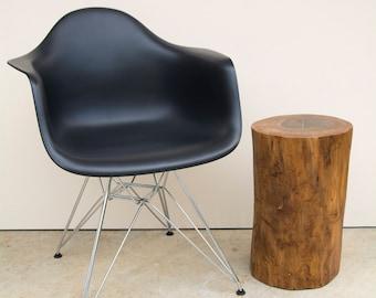 Reclaimed Walnut Wood Stump, Stool, Side Table