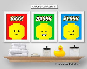 Handmade Lego Bathroom Decor Etsy