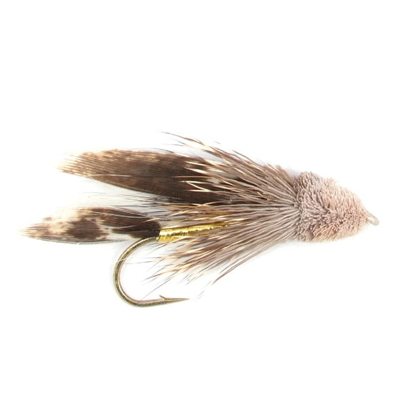 Hand-Tied Fly Fishing Trout Flies: Muddler Minnow Classic Streamer Wet Fly - Hook Size 4