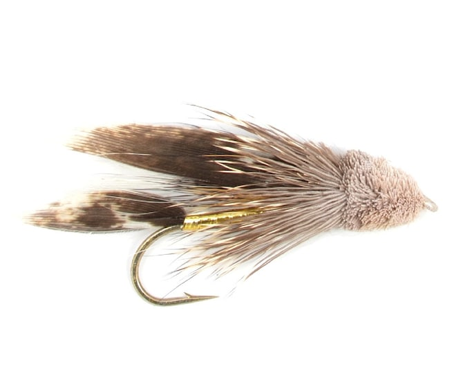 Hand-Tied Fly Fishing Trout Flies: Muddler Minnow Classic Streamer Wet Fly - Hook Size 8