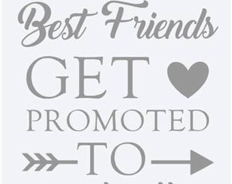 """Sticker """"Only best friends get promoted to godmother."""