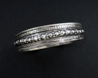 Vintage Baochi Silver Bracelet.  Ottoman Silver Bracelet.  Pakistan / Afghanistan.
