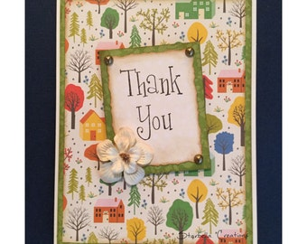 Thank You - New Home, Thank The Host, Handmade Greeting Card