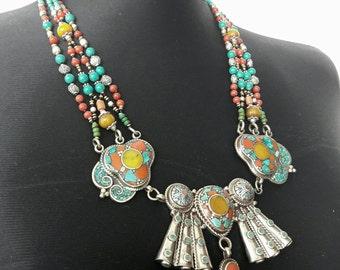 Tibetan jewellery,tibetan earring,tibetan necklaces. Tibet necklace
