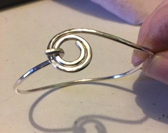 Argentium .935 sterling silver spiral bracelet