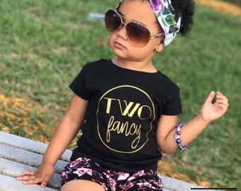 Two fancy | Two year old birthday shirt | Two year old birthday for girl | Fancy birthday shirt | Girl birthday shirt | Birthday shirt