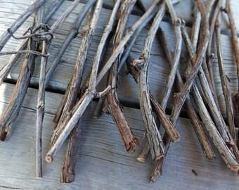 Grape vine twigs, craft sticks and branches, twig craft supplies, natural craft supplies, fairy hobbit house, florist's supply