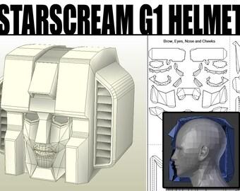 Transformers Starscream G1 Pepakura Helmet