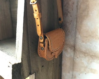Real Leather: Shoulder bag/Yellow/