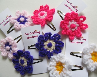 flower hair clips, childs hair clips, gift for her, hair accessories, felt hair clips, colourful hair clips, childs birthday, cute hair clip
