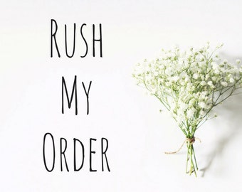 Rush my order - have your custom rubber stamp made in three days