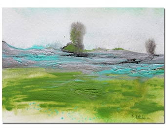 Original Landscape Art Painting, Green, Abstract Painting Original Painting, Abstract Art Original Art, Acrylic Painting, Bridesmaid gift