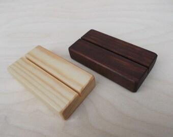 25 Wood place card holders, Place card holders, Table number holders, Menu holder, Wooden holder, Wedding decor, Cafe, Wedding, Rustic