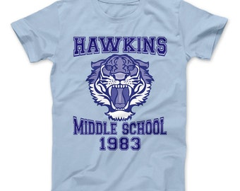 Hawkins Middle School Tigers 1983 Athletic T-Shirt - inspired by Stranger Things Hit Tv Series