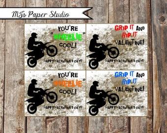 Dirt Bike Valentine's Day Cards