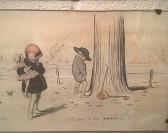 Georges Redon lithograph