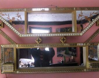 Antique 1930s-1940s Illuminated Art Deco Mirror