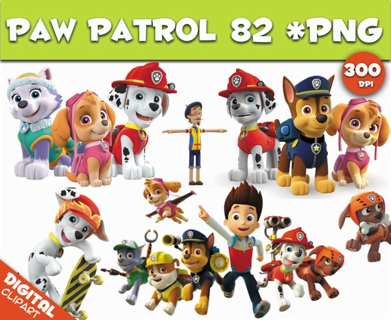 paw patrol clipart 82 PNG 300dpi Images Digital Clip Art