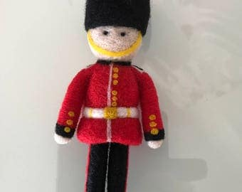 OOAK Needle Felted Queens Guard Decoration