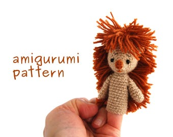 hedgehog amigurumi pattern, crochet finger puppet, hedgie puppet pattern, animal finger puppet, animal puppet pattern, amigurumi hedgehog