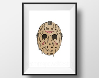 Jason Voorhees // Friday the 13th // Drippy Art Print