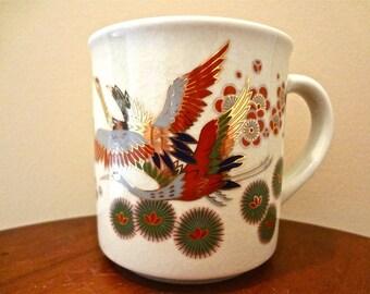 Lovely Japanese Crane Art Vintage Coffee/Tea Mug