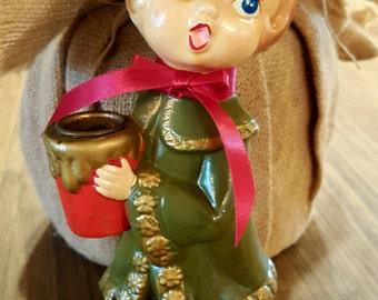 christmas vintage christmas caroler christmas candle holder