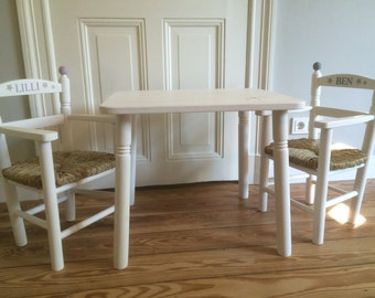 Children's table - wood table for kids - table - solid wood