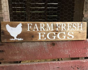 Farm Fresh Eggs Sign, farmhouse kitchem sign, chicken coop sign, farmers market egg sign