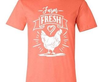 Farm Fresh Chicken Tshirt/Shirt - Free Shipping-