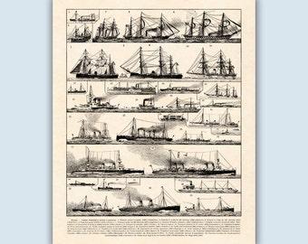 Navigation Print, Nautical Decor, Nautical Art, Boating Gifts, Sailing Decor, Sailing Art, Sailboat Print, Coastal Wall Art, Coastal Print