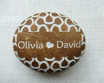 Wedding and Anniversary gifts - Engraved stone - Custom Oathing Stone -for wedding ceremony
