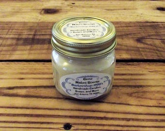 1920's Barber Shop Scented Wood Wick Soy Candle