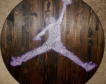 Jordan/ Jumpman inspired - String Art Sign