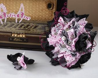 "Bridal bouquet ""Goth ' Mantic"""