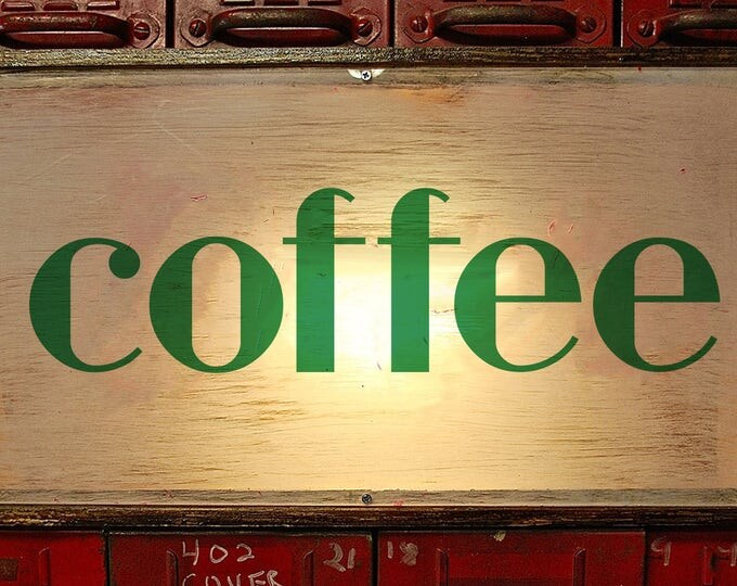 Art Deco Bold Custom Light Box Coffee Sign