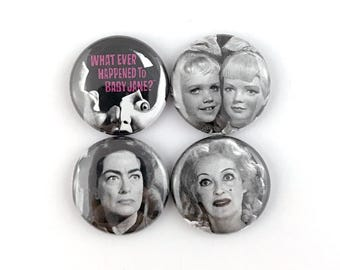 """What Ever Happened to Baby Jane? - 1"""" Button Pin Set"""