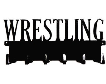 Free USA Shipping Wrestling Text Metal Art Medals Rack