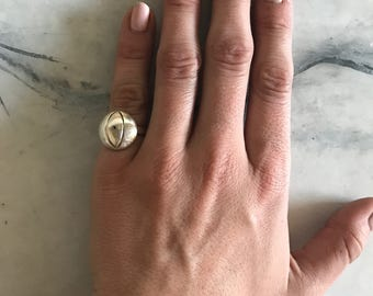 Sterling Silver Domed Circle Ring