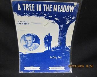 Sheet Music -Billy Reid A Tree in the Meadow - Shapiro Bernstein Publishers