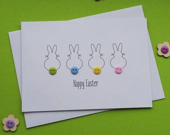 Personalised Easter Card - Bunnies