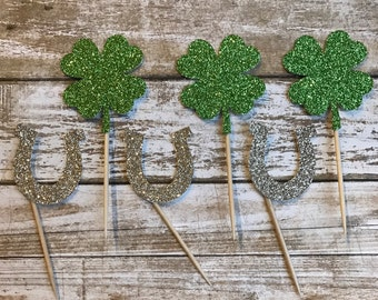 24 St. Patty's Day Cupcake Toppers