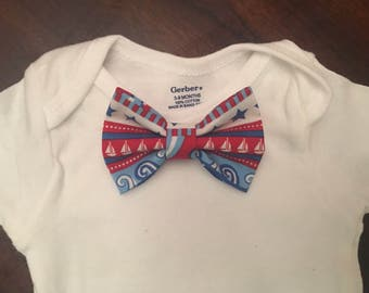 Interchangeable bow tie / baby bow tie / bow tie one piece / bodysuit with bow tie