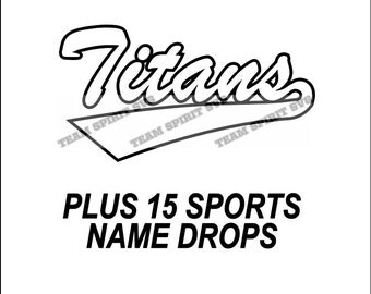 Titans Swoosh Download Files - SVG, DXF, EPS, Silhouette Studio, Vinyl Cutting Files, Digital Cut Files - Use with Cricut and Silhouette
