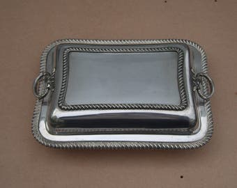 Lidded Serving Dish - Silver Plated/EPNS - Vintage/Antique - Martin Hall & Co - Vintage Silverplate
