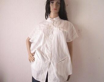 Vintage 80s blouse blouse mini dress dress oversize Hackbarths S