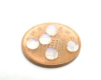 5mm Rainbow moonstone cabochons moonston cabochon 5mm| UK cabochons|gemstone cabochon|