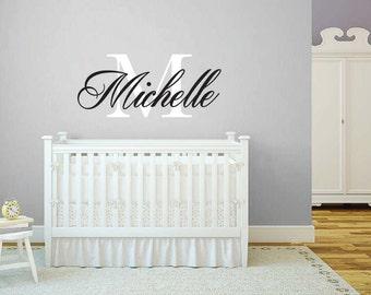 Nursey Wall Decals/ Baby name decals/ Wall Decals/ Custom Decals