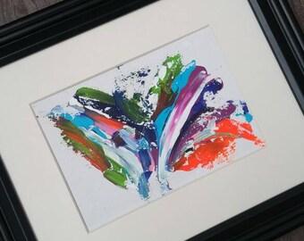 5x7in art, acrylic art, abstract painting, multicolour, Modern art, contemporary art, original art, colourful, ready to frame, nursery art